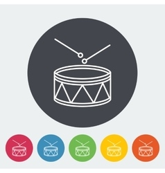 Drum icon vector image