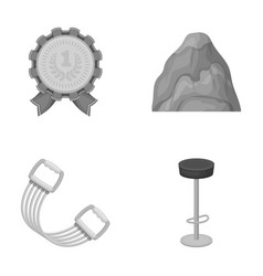 Fitness education and other monochrome icon in vector