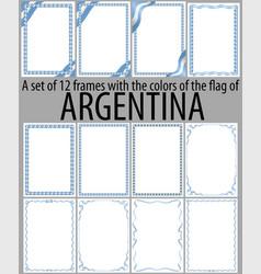 Flag v13 argentina vector