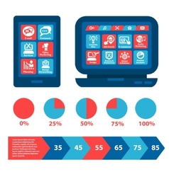 flat web and infographics elements vector image