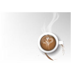 isolated cup of coffee collection latte vector image vector image