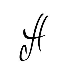 Letter a handwritten by dry brush elegant vector