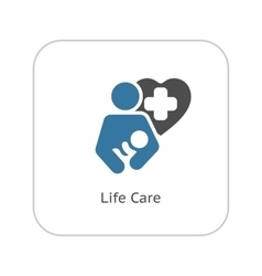Life Care Icon Flat Design vector image vector image