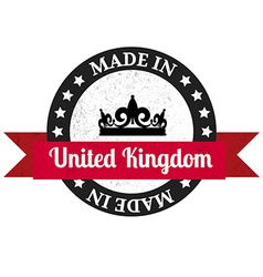 Made in UK badge Made in United Kingdom badge vector image