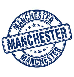 Manchester stamp vector