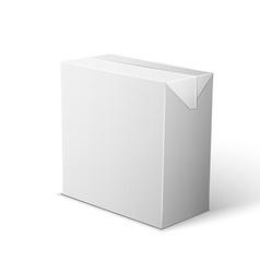 Milk Juice Beverages Carton Package Blank White On vector image