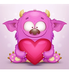 Monster in Love vector image vector image