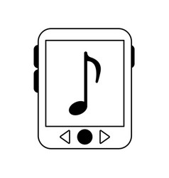 Music player icon image vector