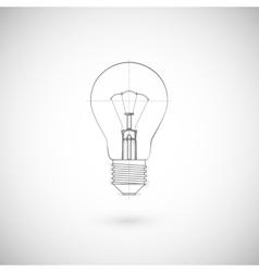 Of lightbulb vector