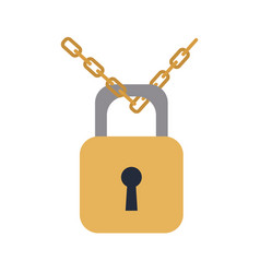 padlock chain security protection image vector image