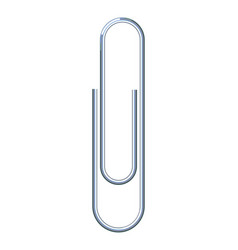 paper clip isolated vector image