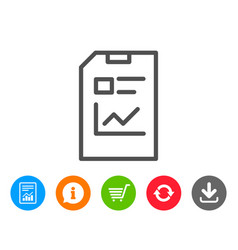 Report document line icon file sign vector