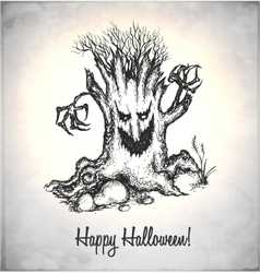 Scary tree vector image vector image