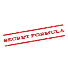 Secret formula watermark stamp vector
