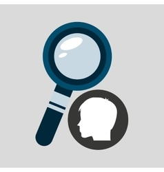 Silhouette head boy student searching vector
