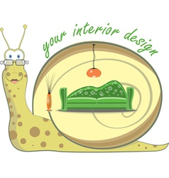 snail cartoon vector image vector image