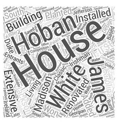 The white house word cloud concept vector
