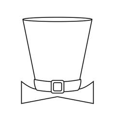 Top hat saint patrick day symbol outline vector