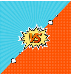Versus logo background vector