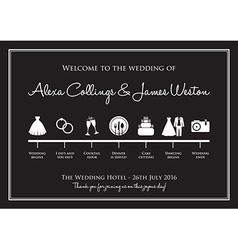 wedding timeline vector image vector image