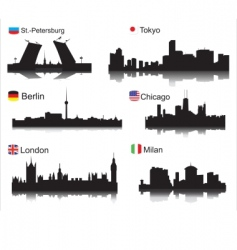 world cities vector image vector image