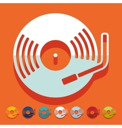 Flat design turntable vector