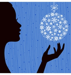Christmas eve blue color background vector