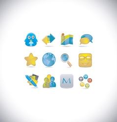 social set vector image
