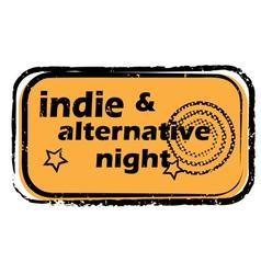 indie alternative night stamp vector image