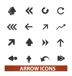 Arrow icons signs set for web and mobile design vector