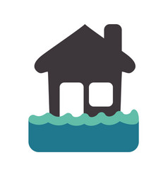 Emergency house flood and natural disaster vector