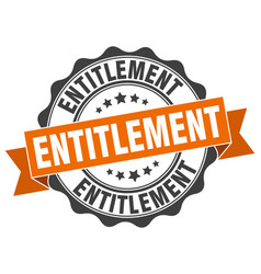 Entitlement stamp sign seal vector