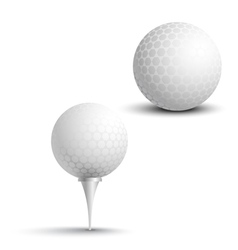 Golf balls on the stand vector