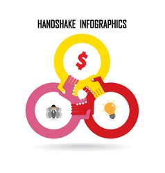 Handshake abstract design vector