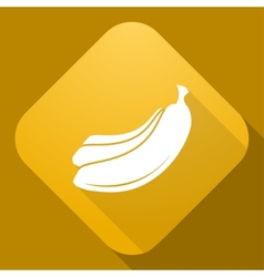 Icon of banana with a long shadow vector