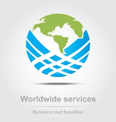 Worldwide services business icon vector