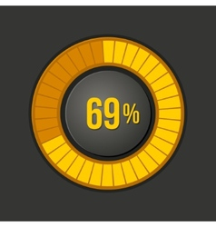 Ring loading progress bar on dark background vector