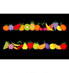 energy fruits  vector image