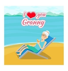 Grandparents day background i love you vector
