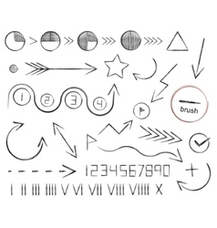 Hand drawn sketch arrows vector image