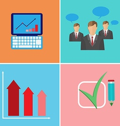 Business meeting presentation elements vector