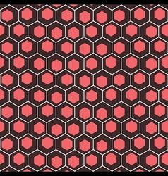 creative hexagonal background vector image