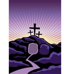 Easter calvary scene vector