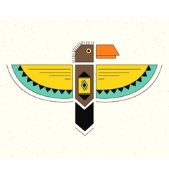 Linear logo thunderbird vector