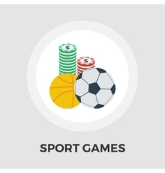 Sport games flat icon vector