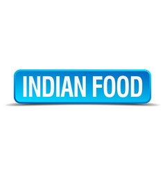 Indian food blue 3d realistic square isolated vector