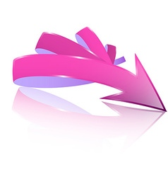 Abstract 3d Pink and Purple Arrow vector image