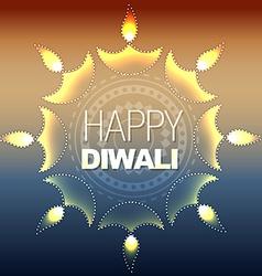 Artistic happy diwali vector