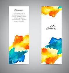 Banner set watercolor vector
