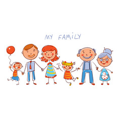 Big happy family vector